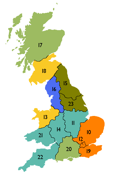 DNO map of the UK